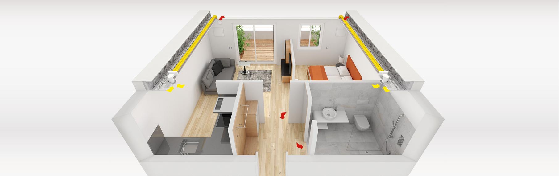 Gut bekannt Einbauvarianten für die Dezentrale Wohnraumlüftung - Meltem HE98